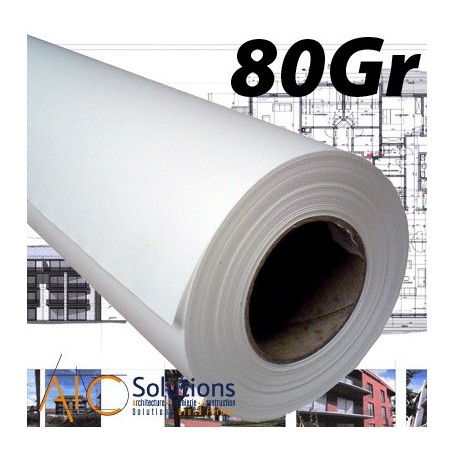 """ColorPrint Premium EXTRA blanc Papier 80gr 0,610 (24"""") x 90m"""
