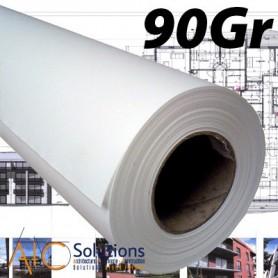 """ColorPrint Premium EXTRA blanc Papier 90gr 1,118 (44"""") x 50m"""