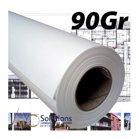 """ColorPrint Premium EXTRA blanc Papier 90gr 0,310 (13"""") x 90m"""