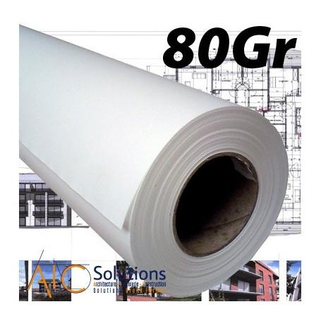 "ColorPrint Premium EXTRA blanc Papier 80gr 0,610 (24"") x 90m mandrin 3"""
