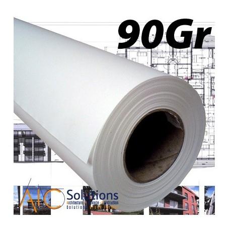 "ColorPrint Premium EXTRA blanc Papier 90gr 0,914 (36"") x 90m mandrin 3"""