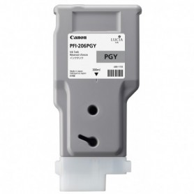 Canon PFI-206 PGY - Cartouche d'impression gris photo 300ml