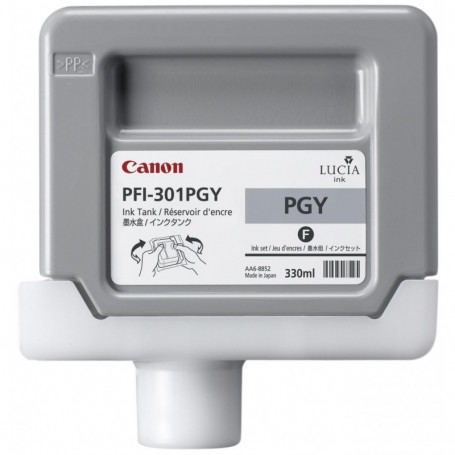 Canon PFI-301 PGY - Cartouche d'impression gris photo chiné 330ml