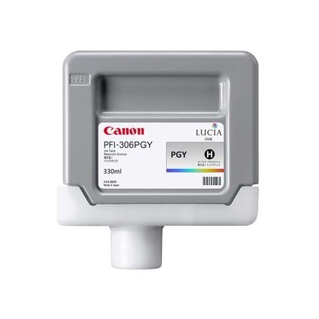 Canon PFI-306 PGY - Cartouche d'impression gris photo chiné 330ml