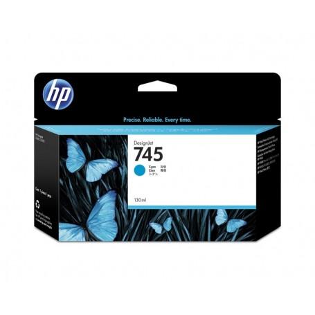 HP 745 - Cartouche d'impression cyan 130ml (F9J97A)