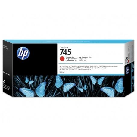 HP 745 - Cartouche d'impression rouge 300ml (F9K06A)