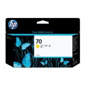 HP 70 - Cartouche d'impression jaune 130ml (C9454A)