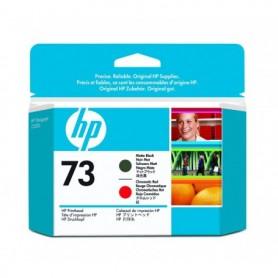 HP 73 - Tête d'impression noir mat et rouge chromatique (CD949A)