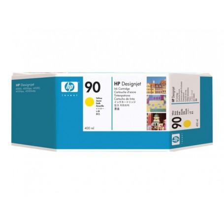 HP 90 - Cartouche d'impression jaune 400ml (C5065A)