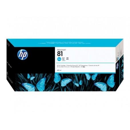 HP 81 - Cartouche d'impression cyan 680ml (C4931A)