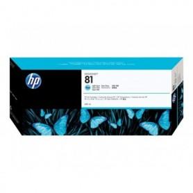HP 81 - Cartouche d'impression cyan clair 680ml (C4934A)