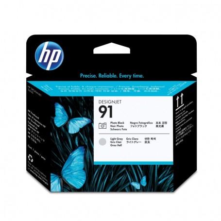 HP 91 - Tête d'impression noir photo et gris clair (C9463A)