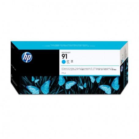 HP 91 - Cartouche d'impression cyan 775ml (C9467A)