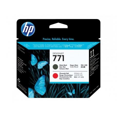 HP 771 - Tête d'impression noir mat et rouge (CE017A)
