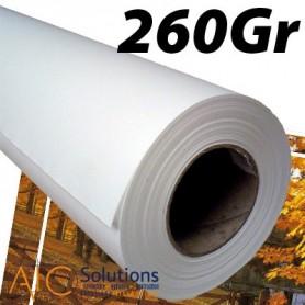 """Papier Photo Brillant microporeux 260Gr 0,610 (24"""") x 30m"""