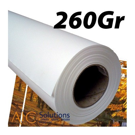 """Papier Photo Satin microporeux 260Gr 0,610 (24"""") x 30m"""