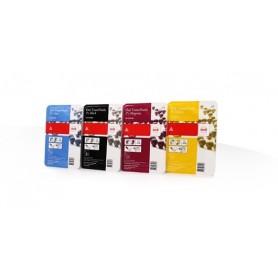 Océ ColorWave 600 - Pack de 4 toners noir, cyan, magenta, jaune 500gr