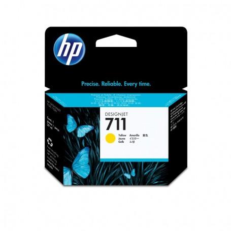 HP 711 - Cartouche d'impression jaune 29ml (CZ132A)