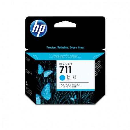 HP 711 - Pack de 3 cartouches d'impression cyan 29ml (CZ134A)