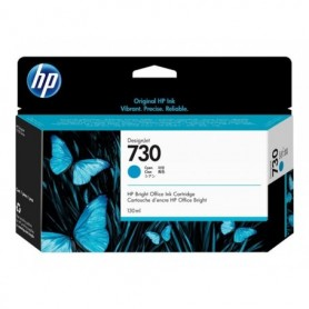 HP 730 - Cartouche d'impression cyan 130ml (P2V62A)