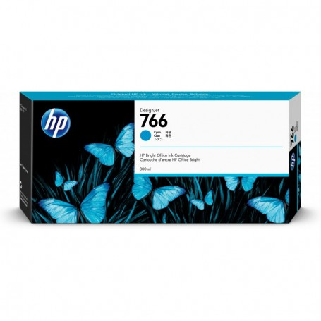 HP 766 - Cartouche d'impression cyan 300ml (P2V89A)