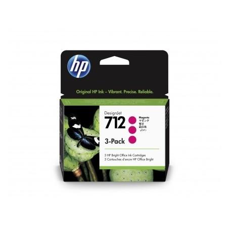 HP 712 - Pack de 3 cartouches d'impression magenta 29ml (3ED78A)