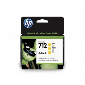HP 712 - Pack de 3 cartouches d'impression jaune 29ml (3ED79A)