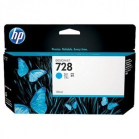 HP 728 - Cartouche d'impression cyan 130ml (F9J67A)