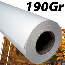 "Papier Photo Brillant microporeux 190Gr 0,610 (24"") x 30m"