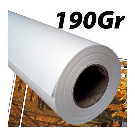 """Papier Photo Brillant microporeux 190Gr 0,610 (24"""") x 30m"""