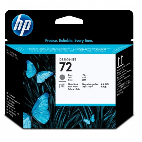 HP 72 - Tête d'impression gris et photo noire (C9380A)