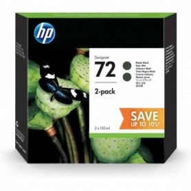 HP 72 - Pack de 2 cartouches d'impression noir mat 130ml (P2V33A)
