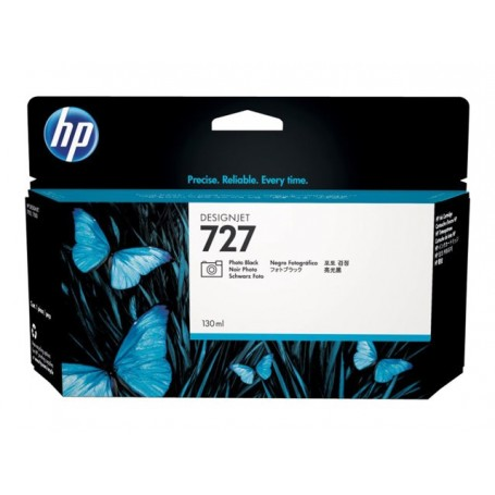 HP 727 - Cartouche d'impression noir photo 130ml (B3P23A)