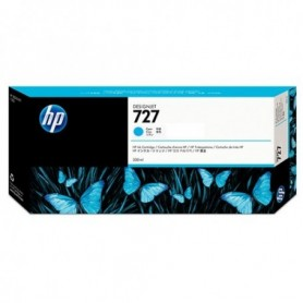 HP 727 - Cartouche d'impression cyan 300ml (F9J76A)