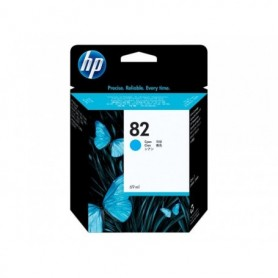 HP 82 - Cartouche d'impression cyan 69ml (C4911A)