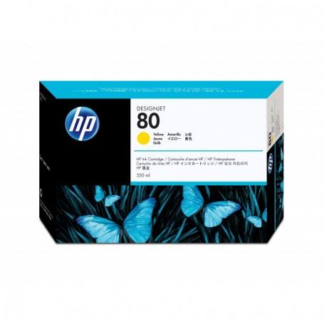 HP 80 - Cartouche d'impression jaune 350ml (C4848A)