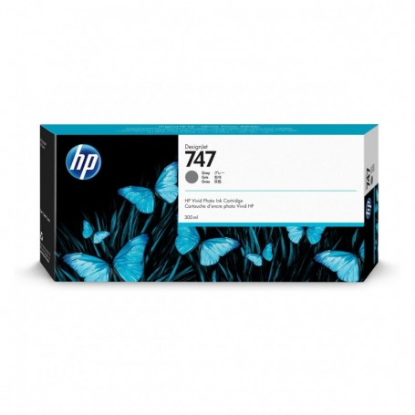 HP 747 - Cartouche d'impression gris 300ml (P2V78A)